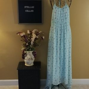 Wildfox Green Seashell Long Casual Maxi XS Dress